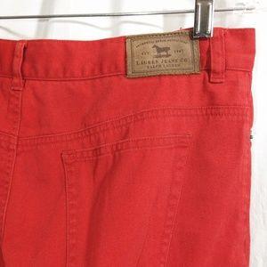 Lauren Jeans Co Red Jeans EUC Ralph Lauren